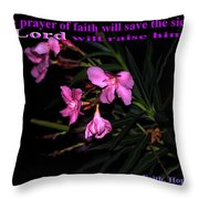 Prayer Of Faith Throw Pillow