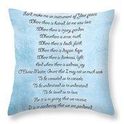 Prayer Of Saint Francis Throw Pillow