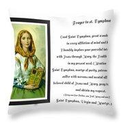 Prayer To St. Dymphna Throw Pillow