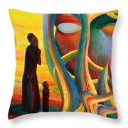Prayers At The Tree Of Life Throw Pillow