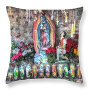 Prayers To Our Lady Of Guadalupe Throw Pillow