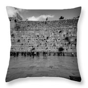Praying At The Western Wall Throw Pillow