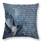 Praying Hands Lords Prayer Throw Pillow by Albrecht Durer