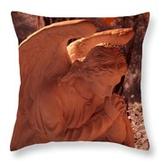 Praying Male Angel Near Infrared  Throw Pillow