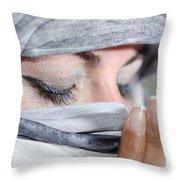 Praying Throw Pillow