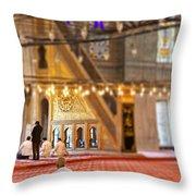 Praying Muslims Throw Pillow