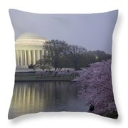 Pre-dawn At The Jefferson Memorial 2 Throw Pillow