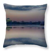 Pre-dawn At The Jefferson Memorial  Throw Pillow