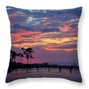 Pre-dawn Colors On Santa Rosa Sound Throw Pillow