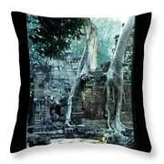 Preah Khan Temple 01 Throw Pillow