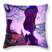 Precarious... Throw Pillow