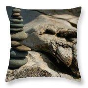 Precarious Cairn Throw Pillow