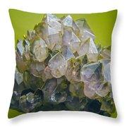 Precious Crystals Throw Pillow
