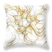 Precious Metal 1 White Decorator Collection 1 Throw Pillow