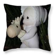 Precious Moments Baby Christmas Ornament Throw Pillow
