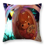 Precious Moments Christmas Ornament Throw Pillow