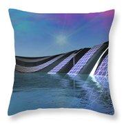 Precious Water Alien Landscape Throw Pillow