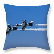 Precision Flying Throw Pillow