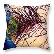 Preening For Attention Sold Throw Pillow