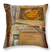 Preferred Reading Material Throw Pillow