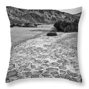 Prehistoric - Clark Dry Lake Located In Anza Borrego Desert State Park In California. Throw Pillow