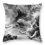 Prehistoric Potter Throw Pillow