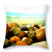 Prehistoric Surface 2 Throw Pillow