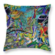 Prehistoric Tropics Throw Pillow