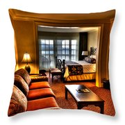 Premier Balcony Suite At The Sagamore Resort  Throw Pillow