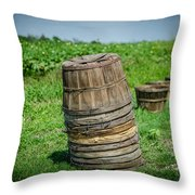 Preparing For The Harvest Throw Pillow