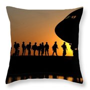 Preparing To Leave Throw Pillow