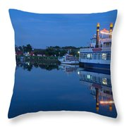 Prerow Hafen Throw Pillow
