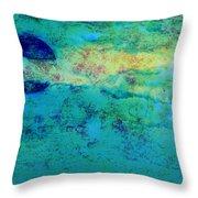 Prescott Blue Abstract Throw Pillow