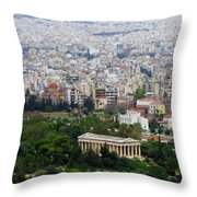 Present Day Ruins Throw Pillow