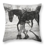 Presentation In Charcoal Throw Pillow