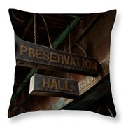 Preservation Hall Jazz Club Throw Pillow