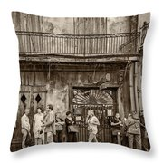 Preservation Hall Sepia Throw Pillow