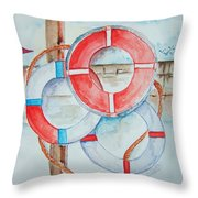 Preserver Rings On Guard Throw Pillow