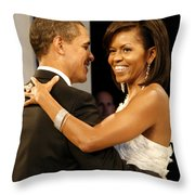 President And Michelle Obama Throw Pillow