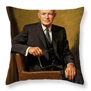 President Dwight D. Eisenhower By J. Anthony Wills Throw Pillow