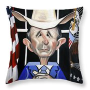 President George W Bush You Been Cubed Throw Pillow