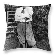 President Harding Playing Golf Throw Pillow