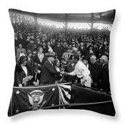 President Herbert Hoover And Baseball Great Walter Johnson 1931 Throw Pillow