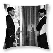 President John Kennedy And Robert Kennedy Throw Pillow