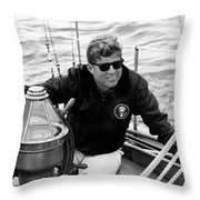 President John Kennedy Sailing Throw Pillow