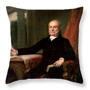 President John Quincy Adams  Throw Pillow