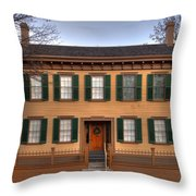 President Lincoln Home Springfield Illinois Throw Pillow