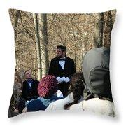 President Lincoln Speaks Throw Pillow