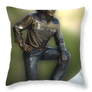 President Ronald Reagan Statue Throw Pillow