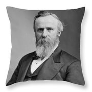 President Rutherford Hayes Throw Pillow